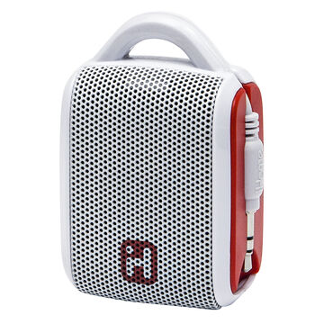 iHome Rechargeable Mini Speaker - White/Red - IM54WRC