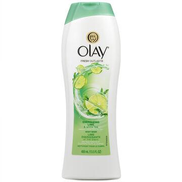 Olay Fresh Outlast Body Wash - Energizing Lime & White Tea - 400ml