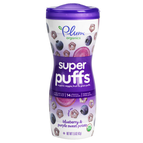 Plum Organics Super Puffs - Blueberry and Purple Sweet Potato - 42g