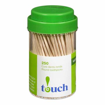 Touch Toothpicks Mint- 250's