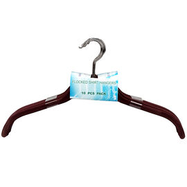 London Drugs Flocked Shirt Hanger - Red - 10 pack