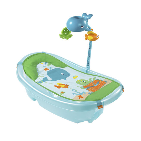 summer ocean buddies baby tub with toy bar london drugs. Black Bedroom Furniture Sets. Home Design Ideas