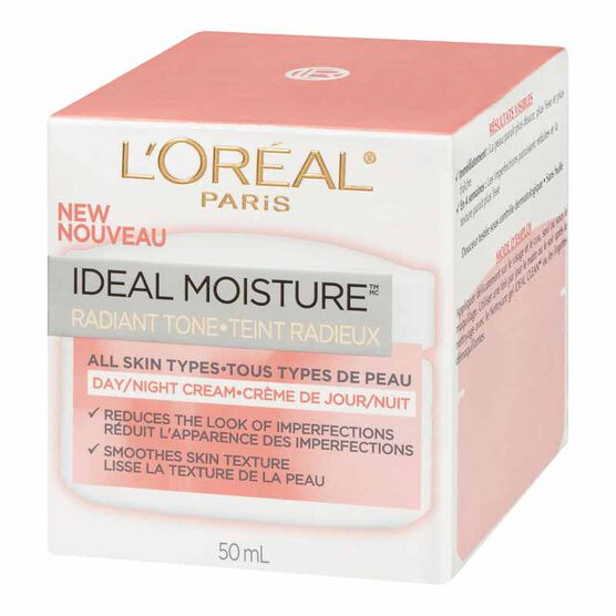 L'Oreal Ideal Moisture Radiant Tone Day/Night Cream - 50ml