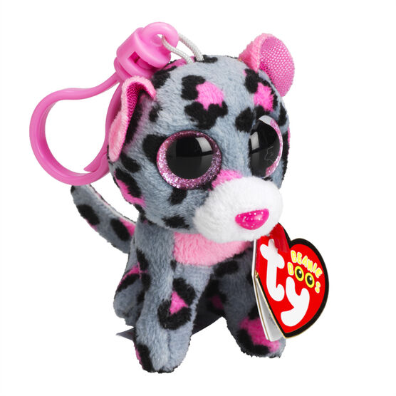 Ty Beanie Boos Clip - Tasha the Pink & Grey Leopard
