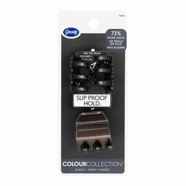 Goody Colour Collection Claw Clips - Black - 2 pack
