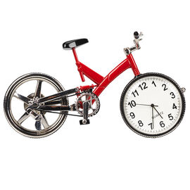 London Drugs Mini Clock - Bicycle - 9.5 x 2 x 2.5cm