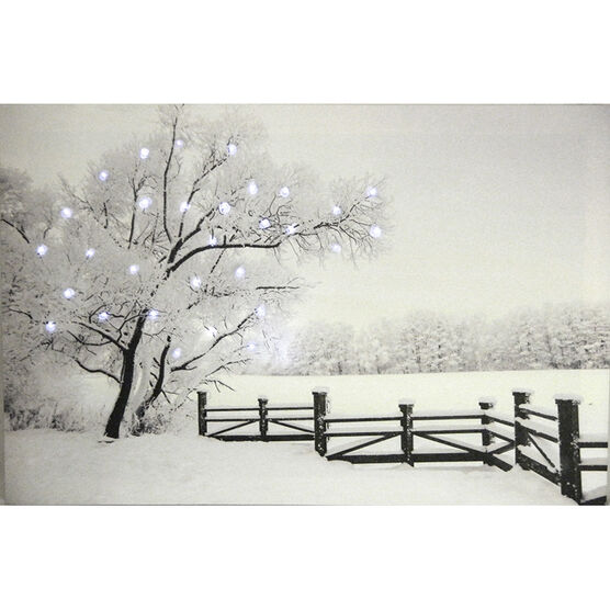 Christmas Forever Canvas with LEDs - 16in x 24in - XM-JD1045DSP - Assorted