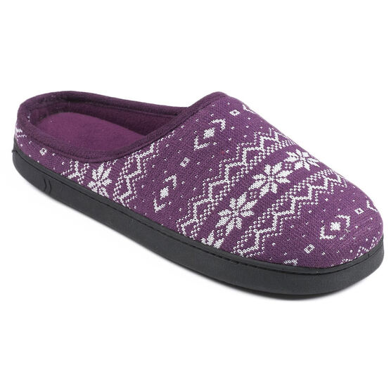 Isotoner Snow Flake Clog Slipper  - 91176