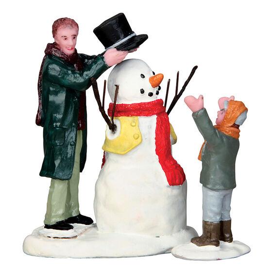 Lemax Sharp-Dressed Snowman - Set of 2 Figurines