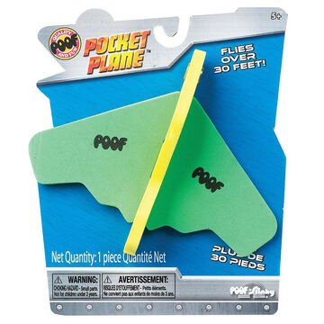 POOF Mini Foam Pocket Airplane - 5inch - Assorted