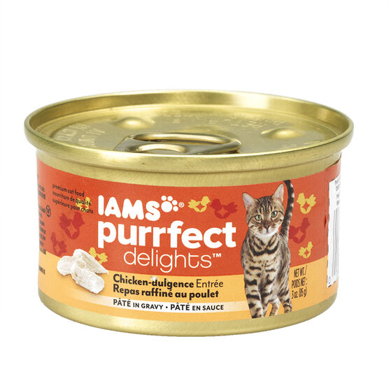 Iams Purrfect Delight Cat Food - Chicken-dulgence - 85g