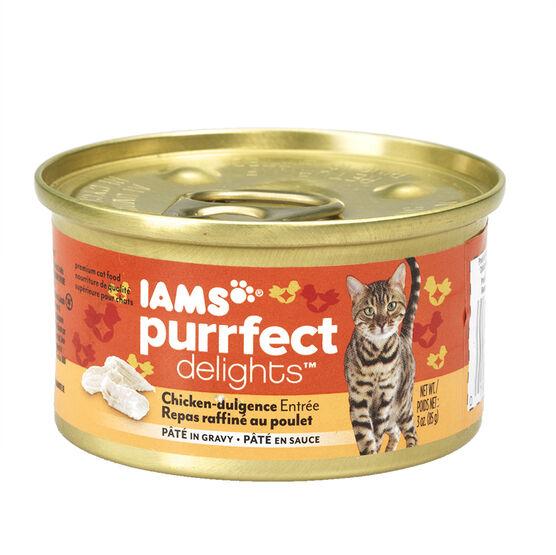 Iams Purrfect Delight Cat Food - Chicken-dulgence - 85g