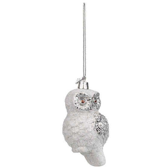 Winter Wishes Decorated Owl Ornament - XLD2016-29UFOB