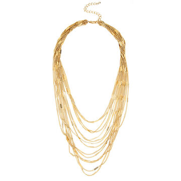 Haskell Multi Chain Necklace - Gold