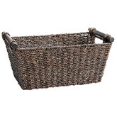 London Drugs Seagrass Basket - Dark Brown - Small