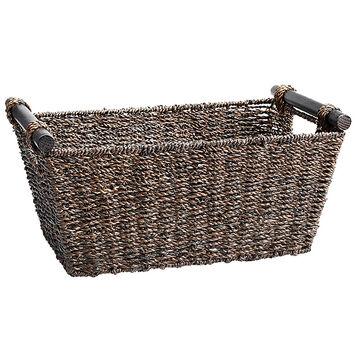 London Drugs Seagrass Basket - Dark Brown - Small