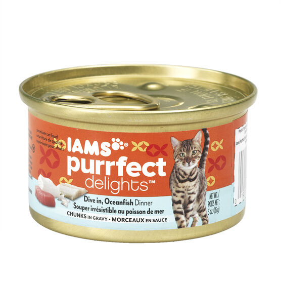 Iams Purrfect Delight Cat Food - Oceanfish - 85g