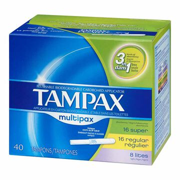 Tampax Multipax Tampons - 40's