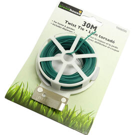 Green House Twist Tie with Cutter - 30M