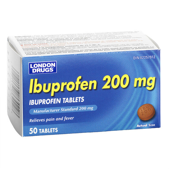 London Drugs Ibuprofen 200mg - 50's