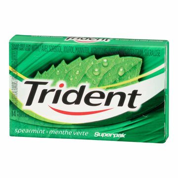 Trident Gum - Spearmint - 14 pieces