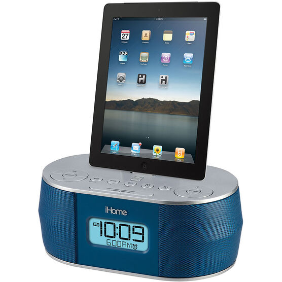 iHome Dual Alarm Clock for iPad, iPhone and iPod - IDN38