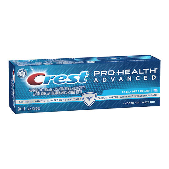 Crest PRO-Health Advanced Extra Deep Clean Toothpaste - Smooth Mint Paste - 70ml