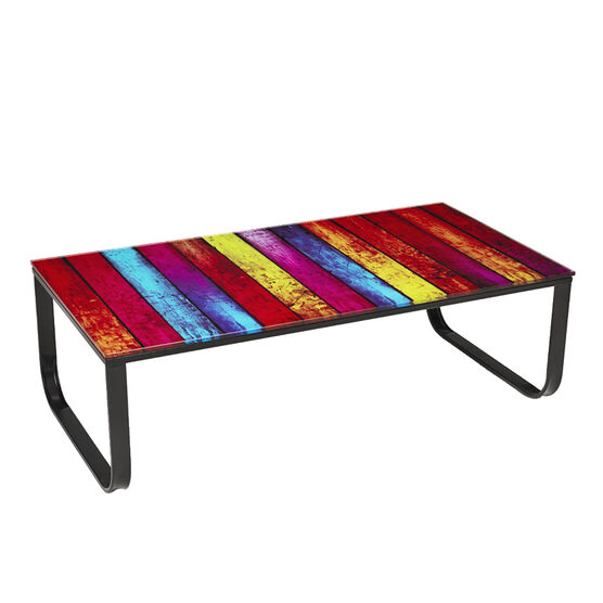 London Drugs Tempered Glass Table - 105 x 55 x 32cm