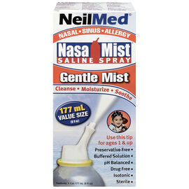NeilMed NasaMist Saline Spray - Gentle Mist - 177ml