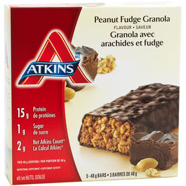 Atkins Advantage Bar - Peanut Fudge Granola - 5 x 48g