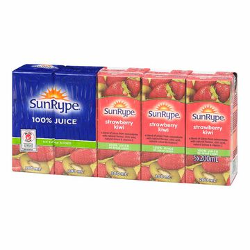 Sun-Rype Juice - Strawberry Kiwi - 5x200ml