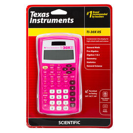 Texas Instruments 2-Line 10-Digit Scientific Calculator - Pink - TI-30X IIS