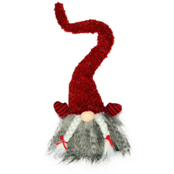 Christmas Forever Plush Elf with Braids - 13.5in - Red - XM-KB1144