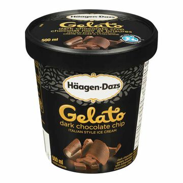 Haagen Dazs Gelato - Dark Chocolate Chip - 500ml