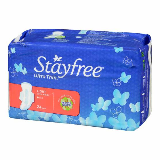Stayfree Light Cottony Dry - 24's