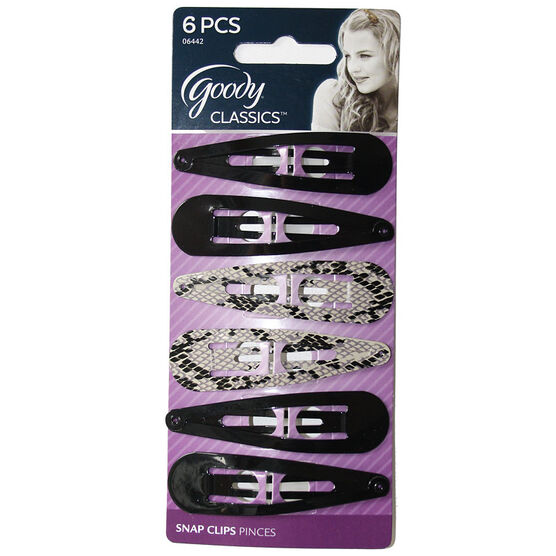 Goody Classics Snap Clips - Medium - 6's