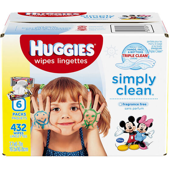 Huggies Simply Clean Wipes - 432's