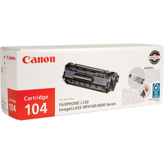 Canon 104 Toner Cartridge - Black - 0263B001
