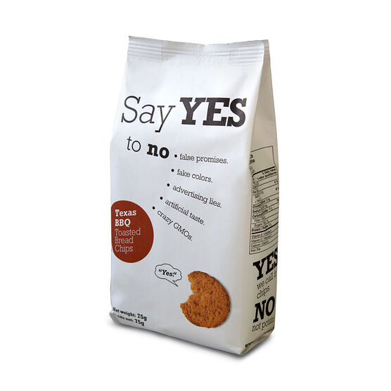 Say Yes Toasted Bread Chips - Texas BBQ - 75g