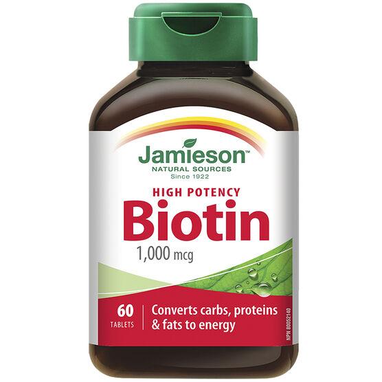 Jamieson High Potency Biotin - 1000mcg - 60's