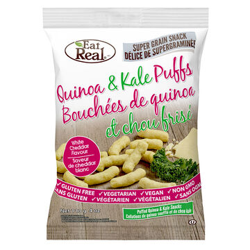 Eat Real Quinoa and Kale Puffs - White Cheddar - 113g