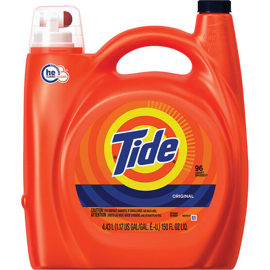 Tide HE Turbo Clean Liquid Laundry Detergent - Original - 4.43L/96 use