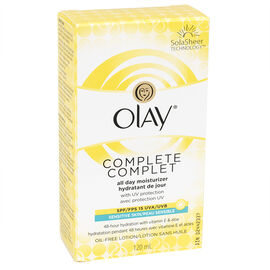 Olay Complete All Day UV Moisturizer Lotion - Sensitive Skin - Fragrance Free - 120ml