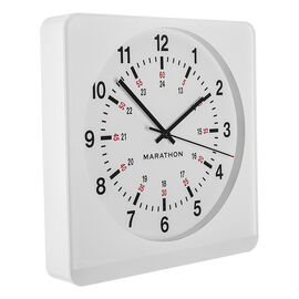 Marathon Large Analog Clock - White/White - CL030057WH-WH1