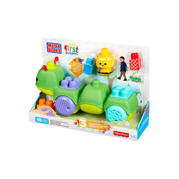 Mega Bloks Move 'N Groove Caterpillar - 10 Pieces - CNG22