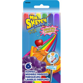 Mr. Sketch Scented Washable Stix Markers - 6 pack