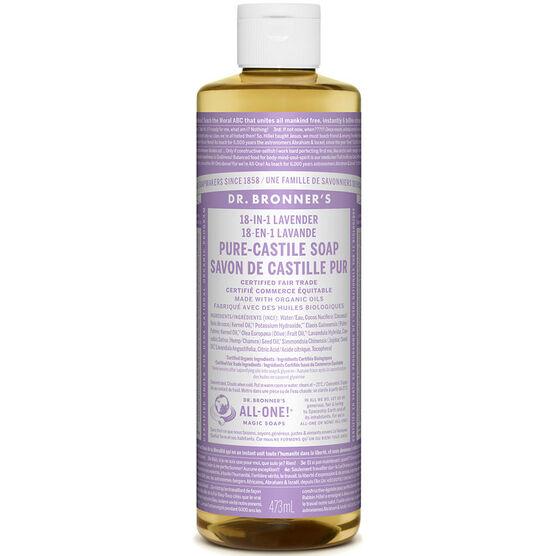 Dr. Bronner's 18-IN-1 Pure-Castile Liquid Soap - Lavender - 473ml