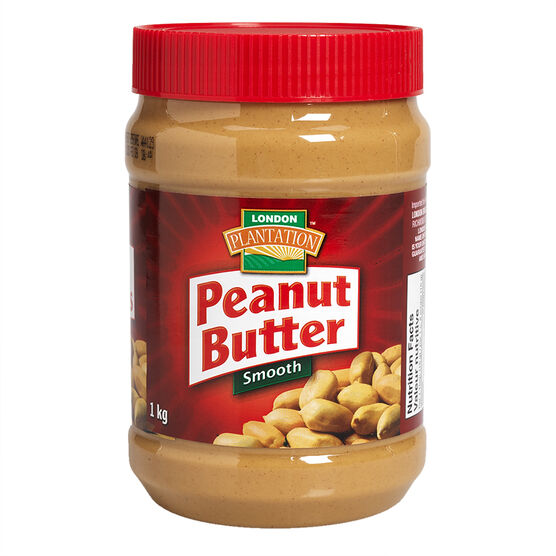London Plantation Peanut Butter - Smooth - 1kg