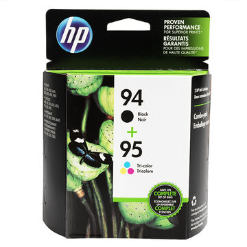 HP 94/95 Combo Pack Ink Cartridge - Black and Tri-Colour - C9354FN#140