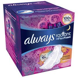 Always Radiant Pads - Overnight - 11's